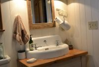 Modern Bathroom : Bathroom Wood Country Farmhouse Sink Vanity Farm Farm in Bathroom Farm Sink Vanity