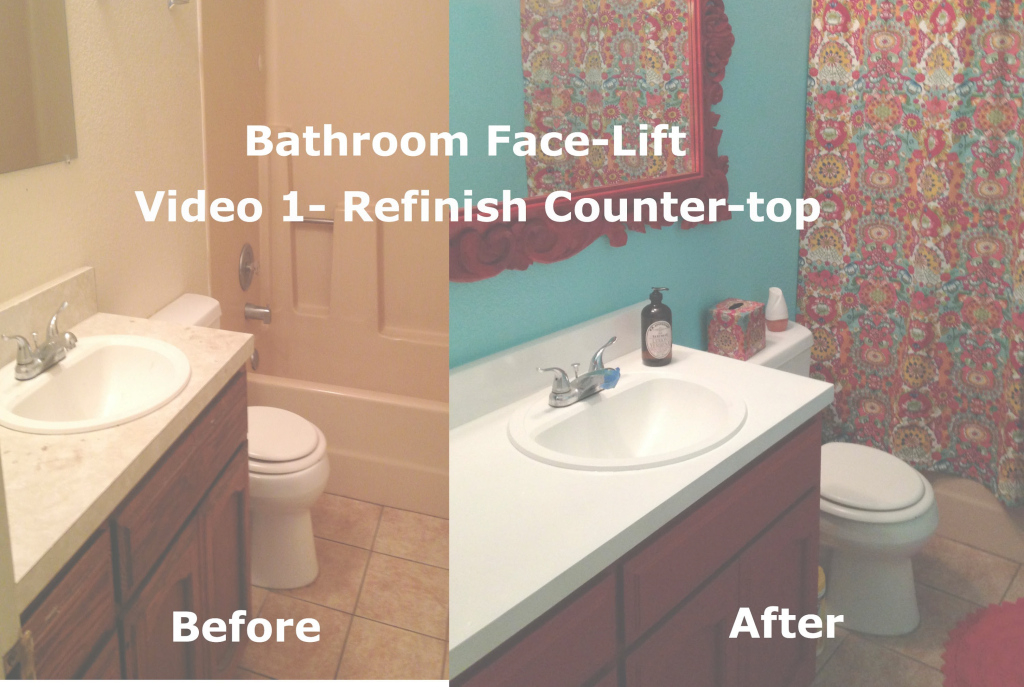 Modern Bathroom Face Lift- Resurfacing Countertop And Sink- Video 1 - Youtube with Bathroom Sinks And Countertops
