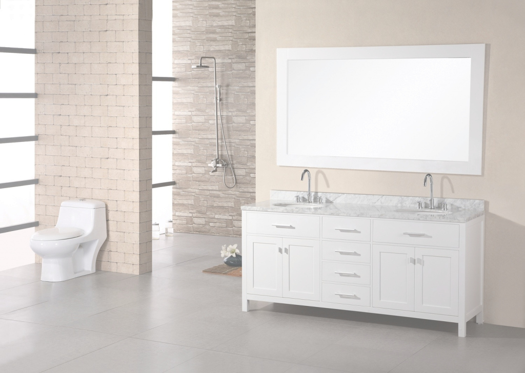 Modern Bathroom: Free Standing White Bathroom Vanities In Double Bathroom pertaining to Free Standing Bathroom Vanity
