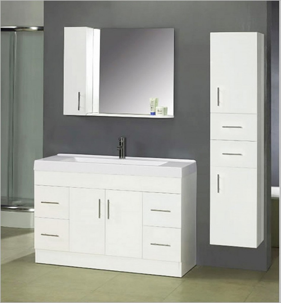 Modern Bathroom Sink Cabinets White Intended For Single Vanity Home And intended for Unique Bathroom Sink With Cabinet
