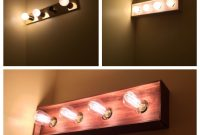 Modern Bathroom Vanity Light Diy Makeover – I Built A Thin Wood Box To throughout Review Bathroom Vanity Light Bulbs