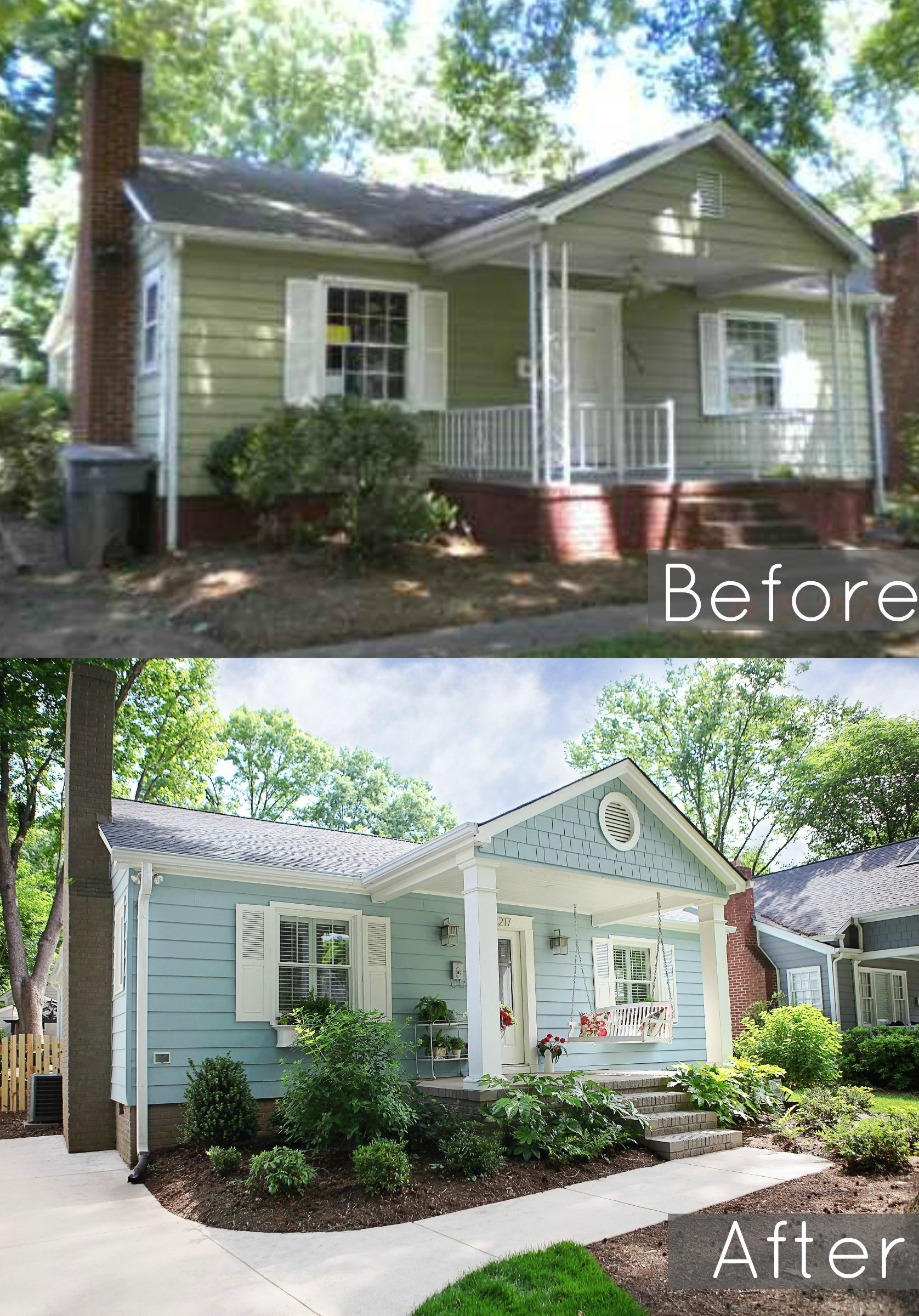 Modern Before And After Of Our 1940's Bungalows Exterior throughout Inspirational Small Bungalow