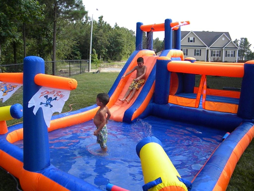 Modern Best Inflatable Water Slide Reviews - Updated 2017 within Backyard Inflatables