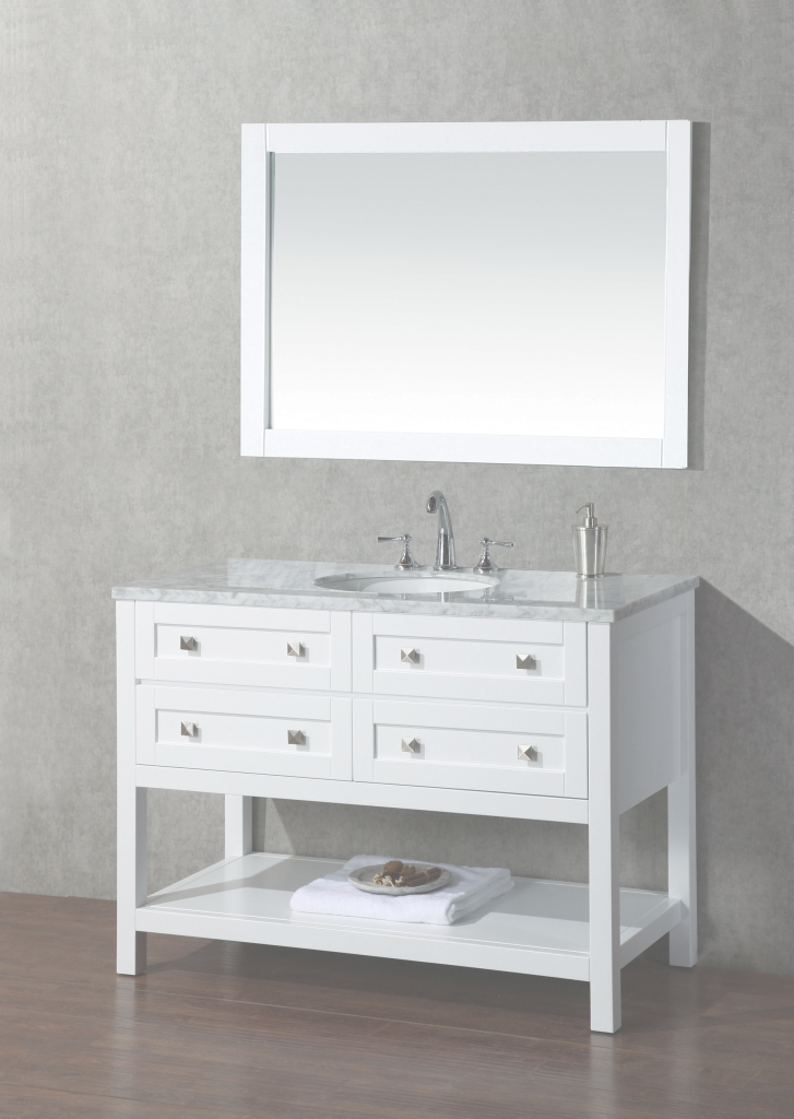 "Modern Brayden Studio Whaley 48"" Single Sink Bathroom Vanity Set With pertaining to Single Sink Bathroom Vanity"