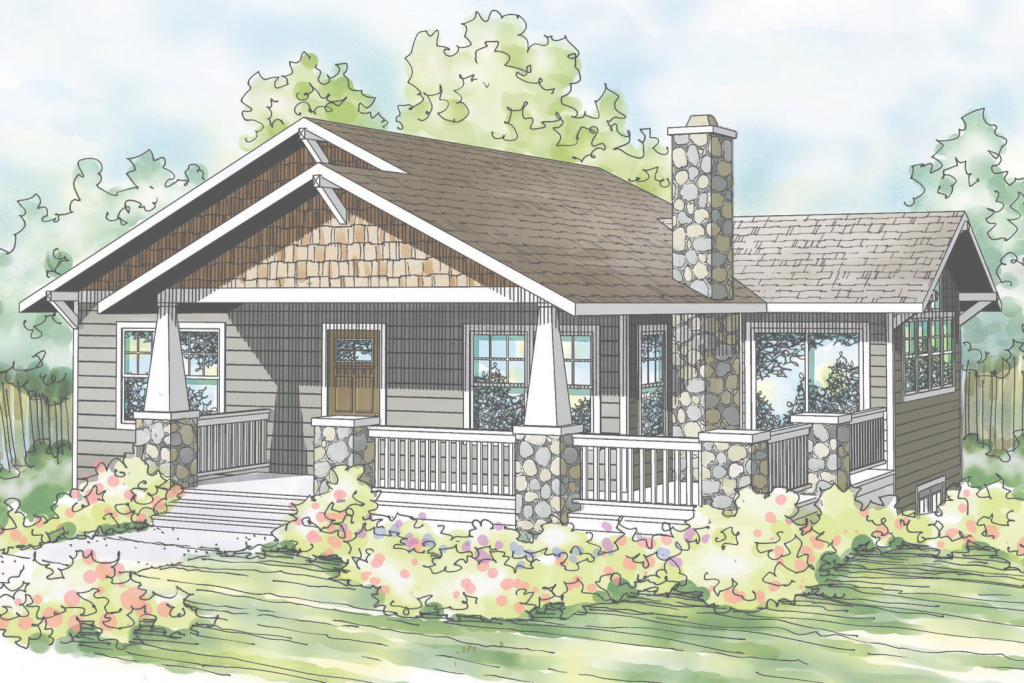 Modern Bungalow House Plans - Bungalow Home Plans - Bungalow Style House within Set What Is A Bungalow Style Home
