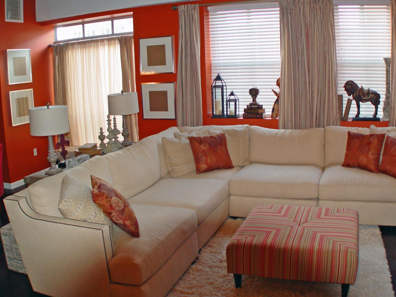 Modern Burnt Orange Living Room Curtains - Living Room Ideas within Luxury Burnt Orange Living Room