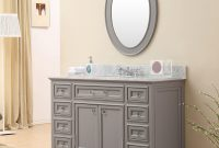 Modern Carenton 48 Inch Traditional Bathroom Vanity Gray Finish throughout Traditional Bathroom Vanity