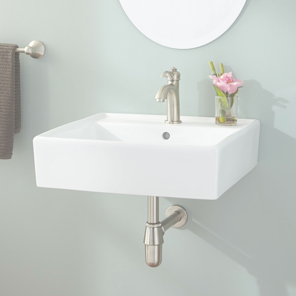 Modern Chelsey Wall-Mount Bathroom Sink - Wall Mount Sinks - Bathroom Sinks pertaining to Small Sinks Bathroom