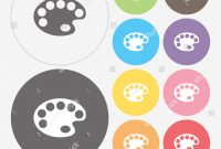 Modern Color Palette Icon Vector Stock Vector 252005692 – Shutterstock inside Elegant Color Palette Icon