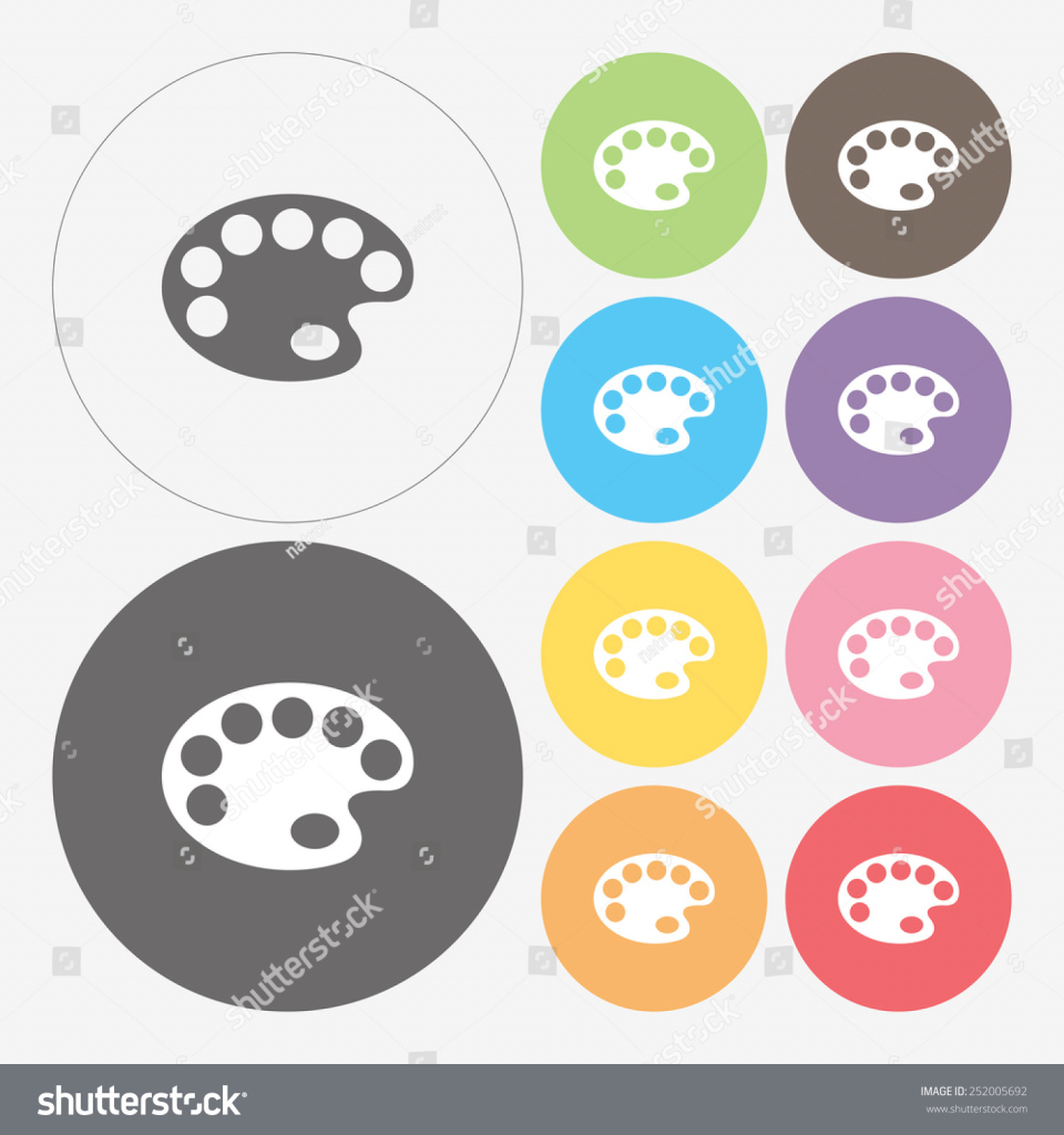 Modern Color Palette Icon Vector Stock Vector 252005692 - Shutterstock inside Elegant Color Palette Icon