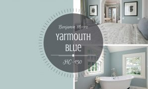 Modern Colour Spotlight – Benjamin Moore Yarmouth Blue Hc-150 | Rowe in Yarmouth Blue Bathroom