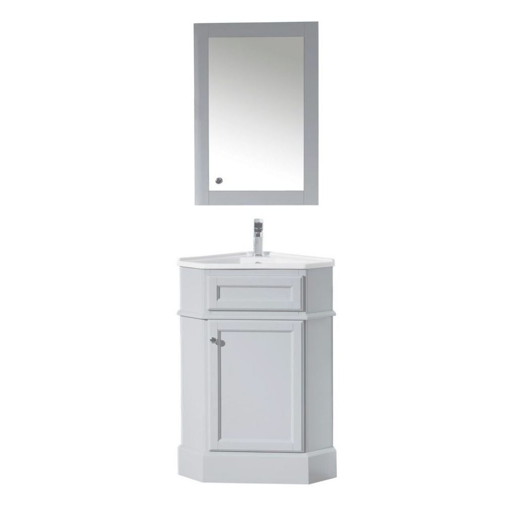 Modern Corner - Single Sink - Bathroom Vanities - Bath - The Home Depot regarding Beautiful Corner Bathroom Vanity Sink