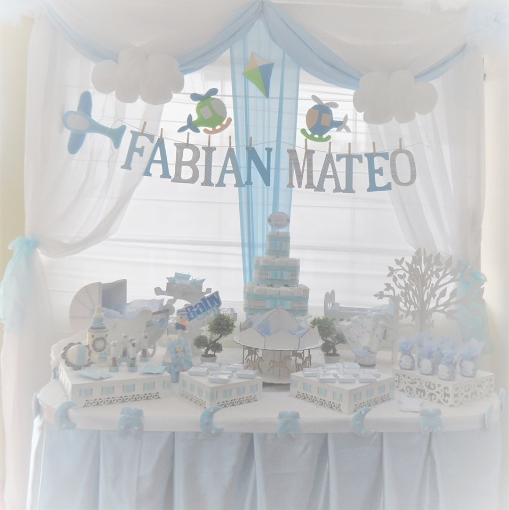 "Modern Decoración Para Baby Shower Niño ""fabian Mateo"" 