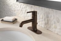 Modern Delta 559Lf-Blmpu Matte Black Trinsic 1.2 Gpm Single Hole Bathroom with regard to Awesome Delta Trinsic Bathroom Faucet