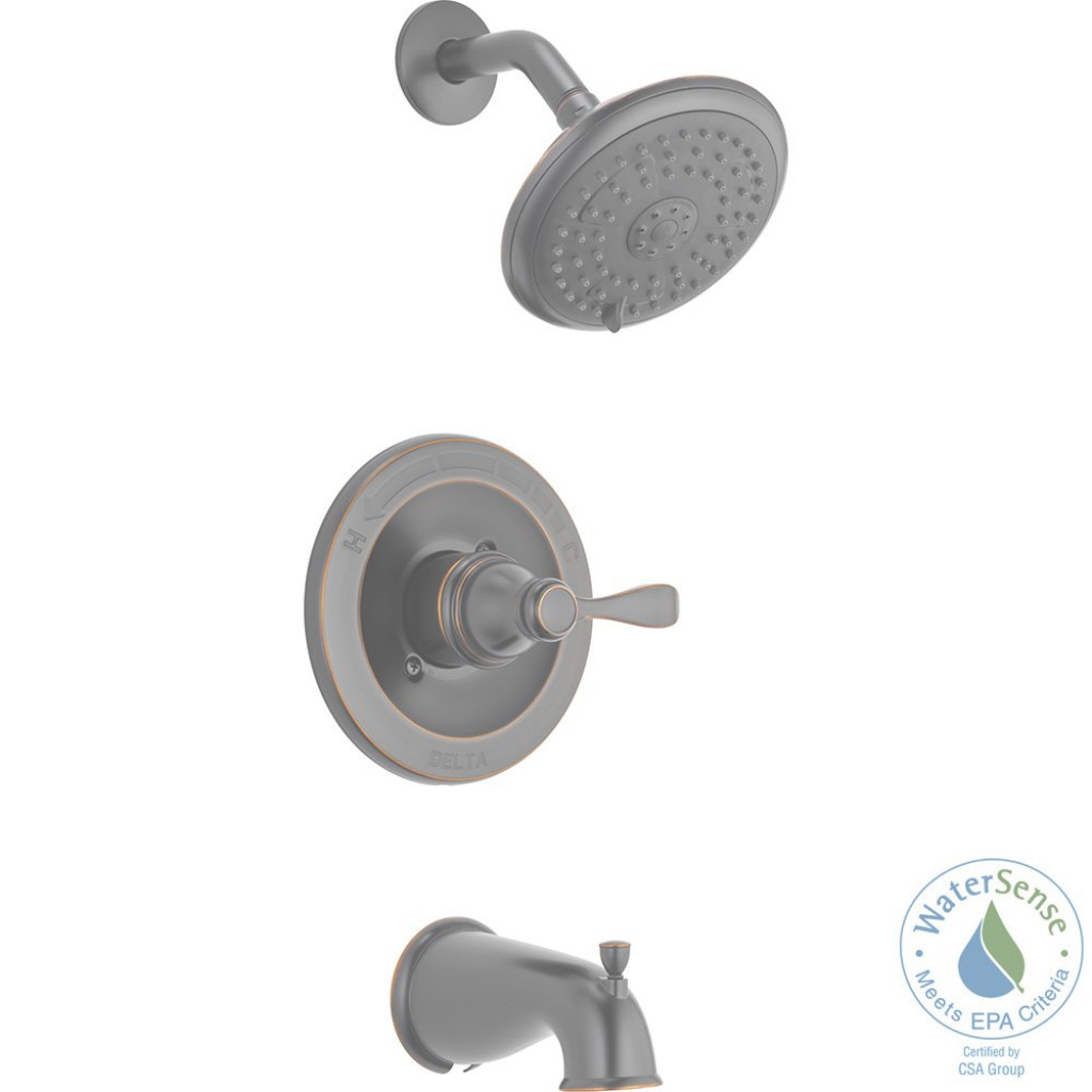 Modern Delta Porter Single-Handle 3-Spray Tub And Shower Faucet In Oil pertaining to Delta Bathroom Shower Faucets