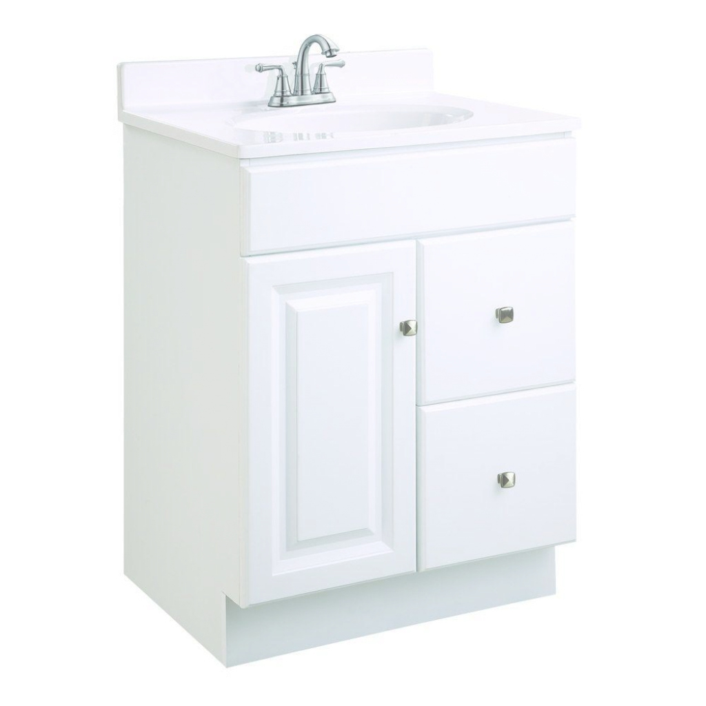 Modern Design House Wyndham 24 In. W X 18 In. D Unassembled Vanity Cabinet intended for Elegant White Bathroom Vanity Home Depot