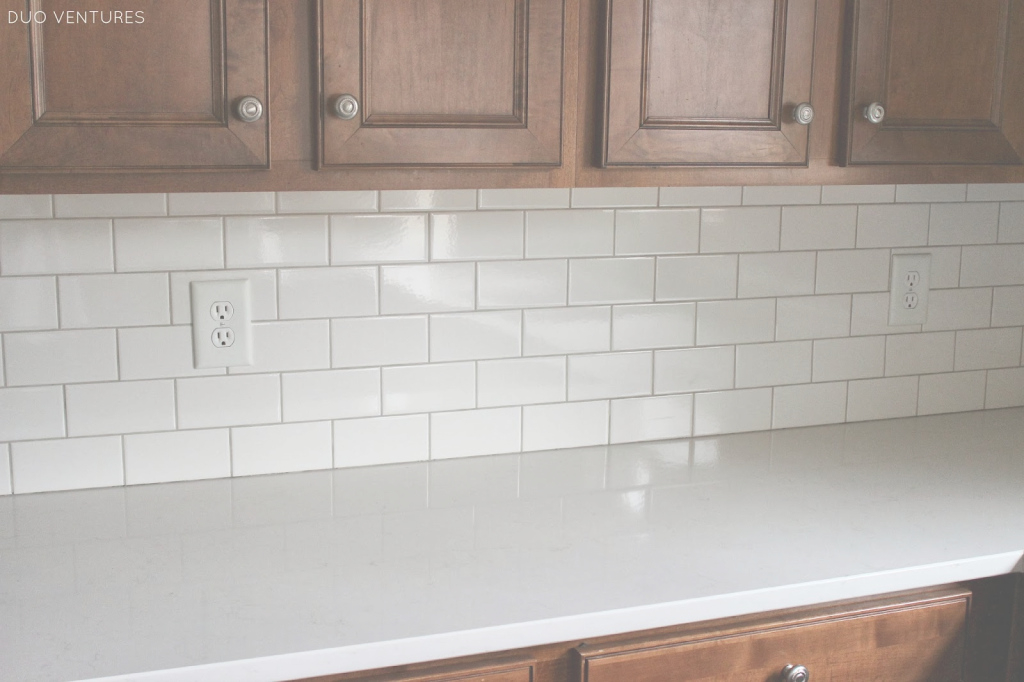 Modern Duo Ventures: Kitchen Update: Grouting & Caulking Subway Tile Backsplash throughout Elegant How To Grout A Backsplash