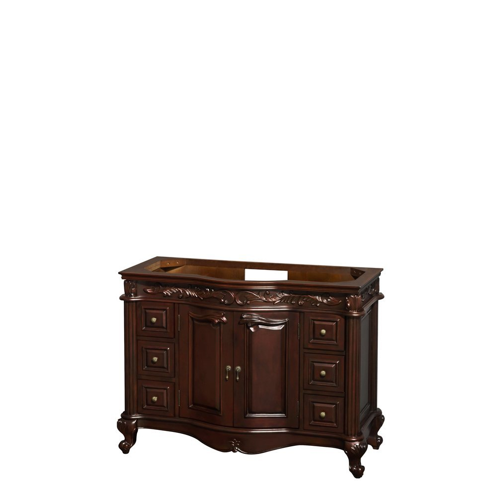 Modern Edinburgh 48 Inch Single Bathroom Vanity In Cherry, No Countertop regarding Inspirational Bathroom Vanity No Sink