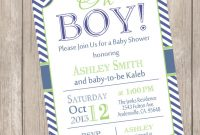 Modern Elegant Boy Baby Shower Invitations 30 – Wyllieforgovernor throughout Review Baby Shower Invitations