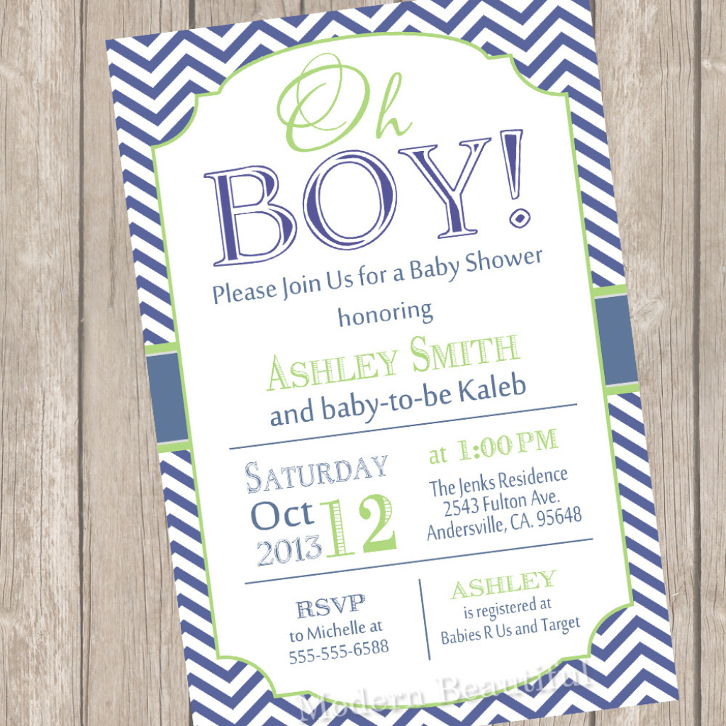 Modern Elegant Boy Baby Shower Invitations 30 - Wyllieforgovernor throughout Review Baby Shower Invitations