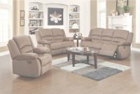 Modern Ellis Contemporary Microfiber 3-Piece Living Room Set, Light Brown inside Elegant Beige Living Room Set