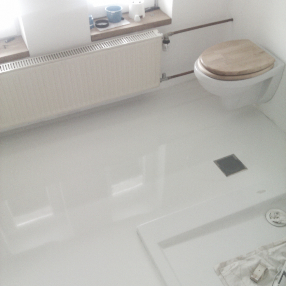 Modern Epoxy Bathroom Floor White : Mcnary - Expensive Works Epoxy Bathroom pertaining to Beautiful Epoxy Bathroom Floor