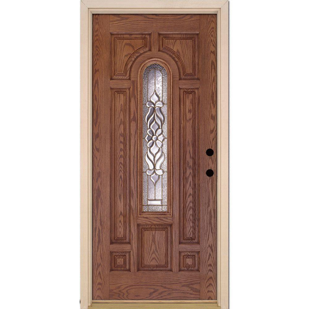 Modern Feather River Doors 37.5 In. X 81.625 In. Lakewood Brass Center Arch for Main Door Images House