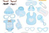 Modern Fengrise Baby Shower 25Pcs Photo Booth Props Blue Pink Its A Boy intended for Baby Shower Its A Boy