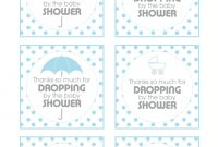 Modern Free Printable Baby Boy Shower Gifts Template Thank You Pdf Stunning pertaining to Free Printable Baby Shower