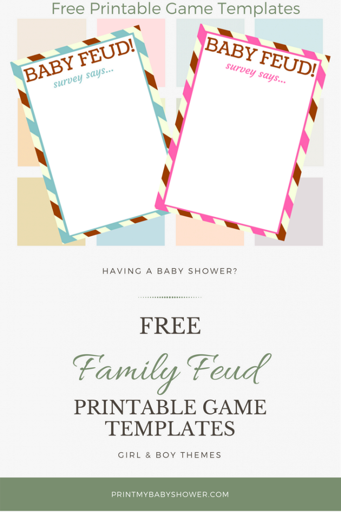 Modern Fun Baby Shower Family Feud Game Questions And Templates | Baby regarding Inspirational Free Baby Shower Game Templates