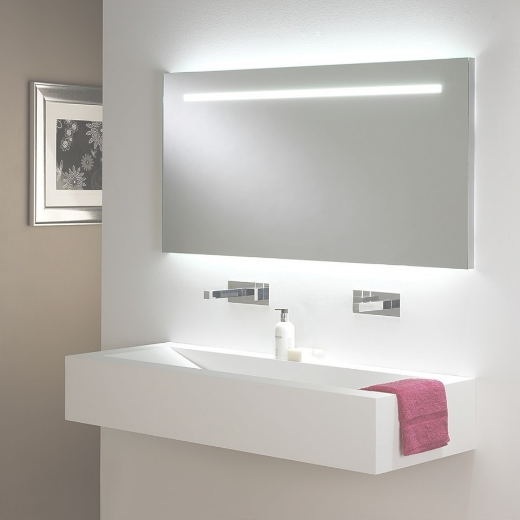 Modern Galaxy Square Illuminated Bathroom Wall Mirror Astro Lighting 0440 for Best of Illuminated Wall Mirrors For Bathroom