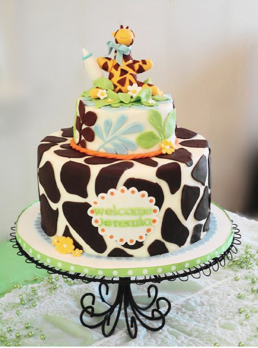 Modern Giraffe Baby Shower Cake - Cakecentral throughout New Giraffe Themed Baby Shower