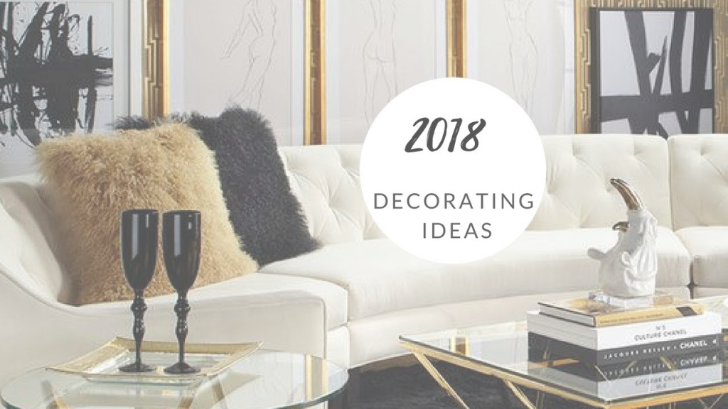 Modern Glam Lux Living Room Ideas - Black, White And Gold - Youtube throughout Black White And Gold Living Room