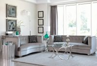 Modern Grey Living Room Flower Vases On The Top Glass Table On Black Rug pertaining to Grey Living Room Rug