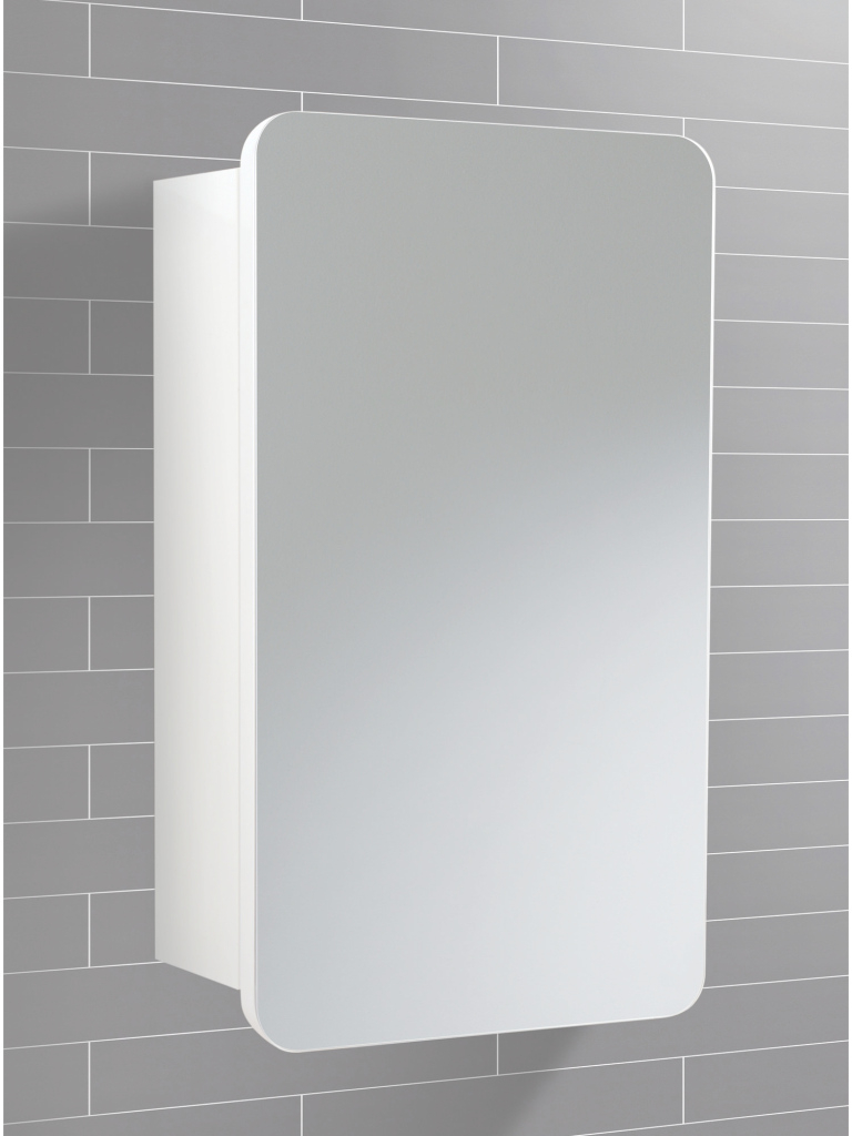 Modern Hib Montana Single Door Bathroom Mirrored Cabinet 350 X 570Mm | 9101100 for Luxury Bathroom Mirror With Cabinet
