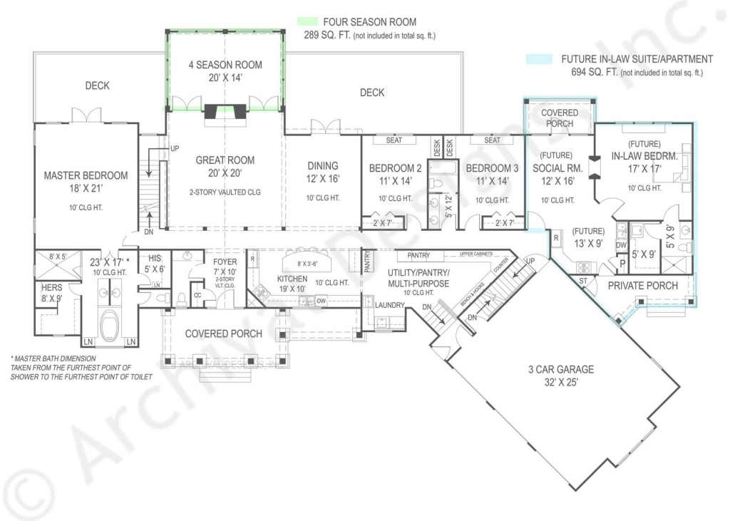 Modern Home Plans With Inlaw Suites - Petadunia in Set Free House Plans With Mother In Law Suite Stock