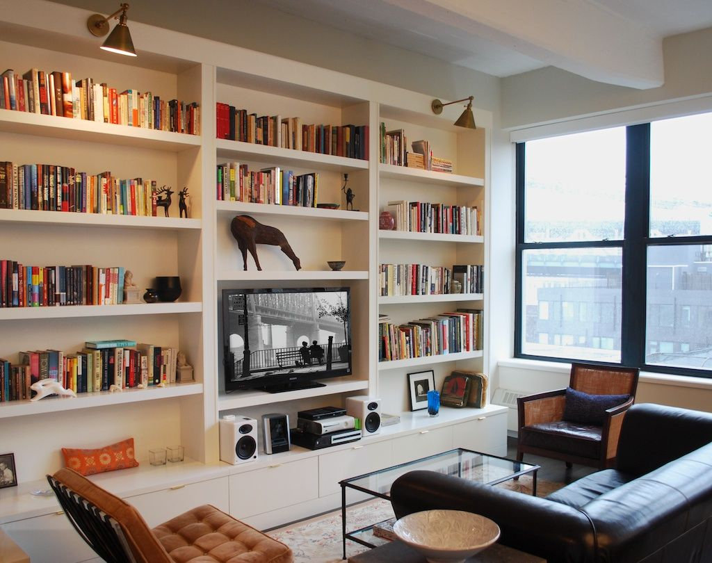 Modern How Much For Those Gorgeous Built-In Bookshelves? | Home & Office with regard to Fresh Living Room Shelving