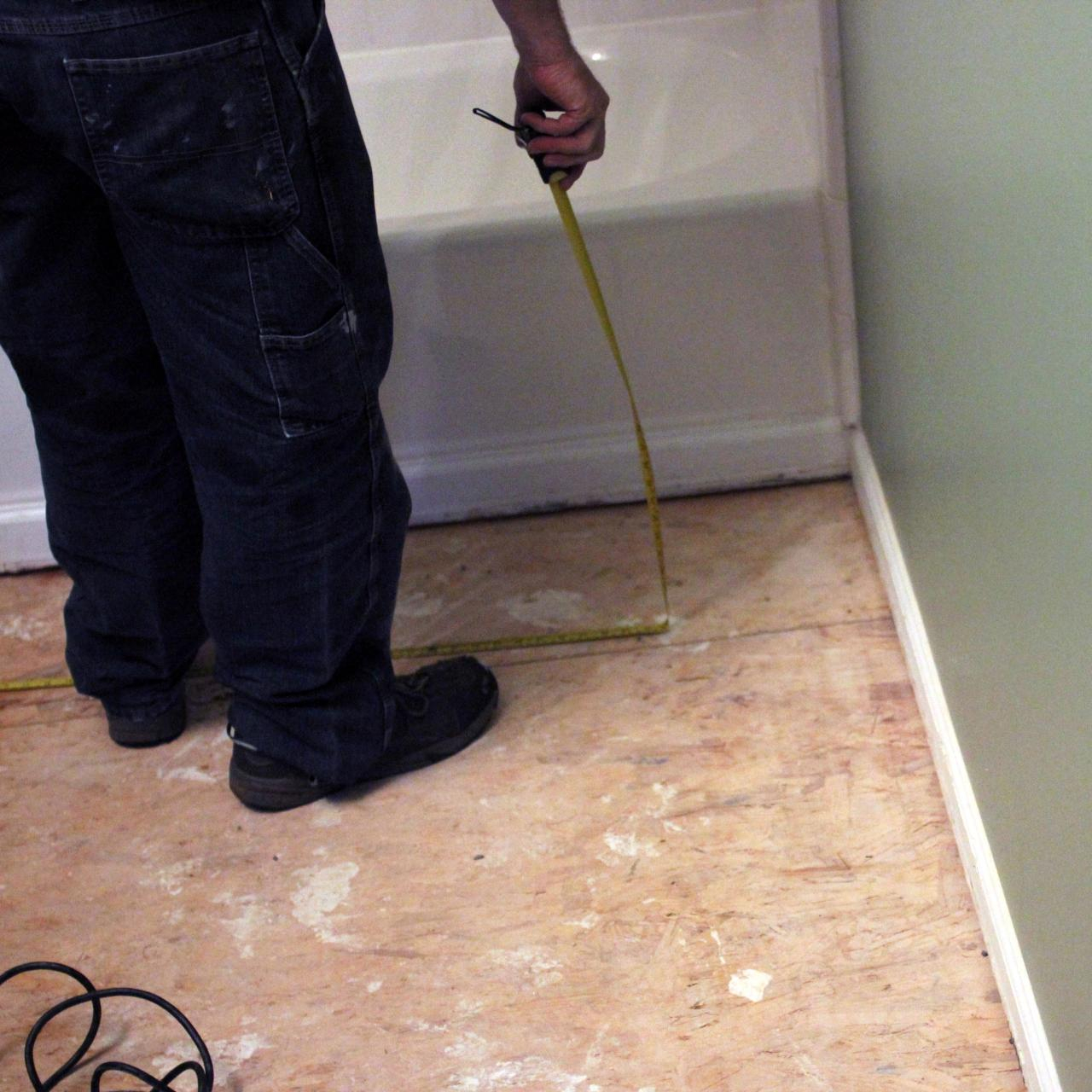 Modern How To Install Bathroom Floor Tile | How-Tos | Diy pertaining to Easy To Install Bathroom Flooring