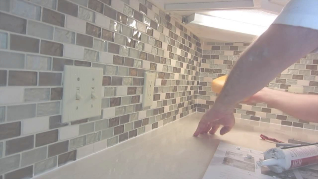 Modern How To Install Glass Mosaic Tile Backsplash, Part 3 Grouting The intended for How To Grout Backsplash