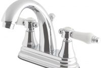 Modern Kingston Brass English Porcelain 4 In. Centerset 2-Handle High-Arc for Fresh Porcelain Bathroom Faucets