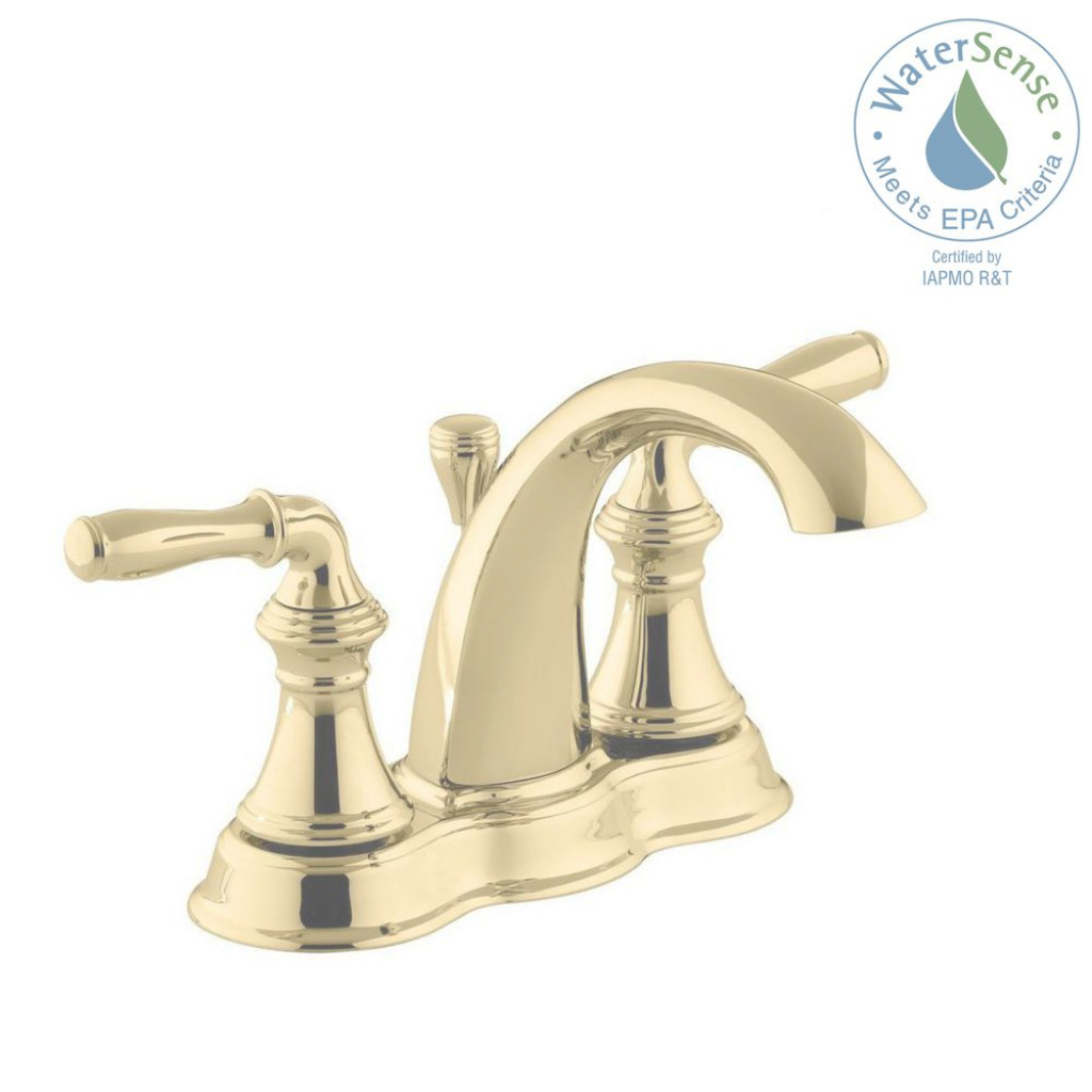 Modern Kohler Devonshire 8 In. Widespread 2-Handle Low-Arc Bathroom Faucet pertaining to Brushed Brass Bathroom Faucet