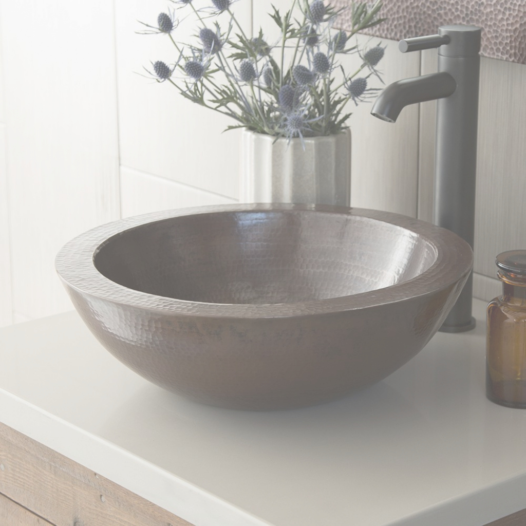 Modern Laguna Copper Bathroom Vessel Sink | Native Trails intended for Bathroom Vessel Sinks