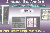 Modern Latest Window Grill Designs ( Part 5 ) – Youtube within Latest Window Grill Design Photos