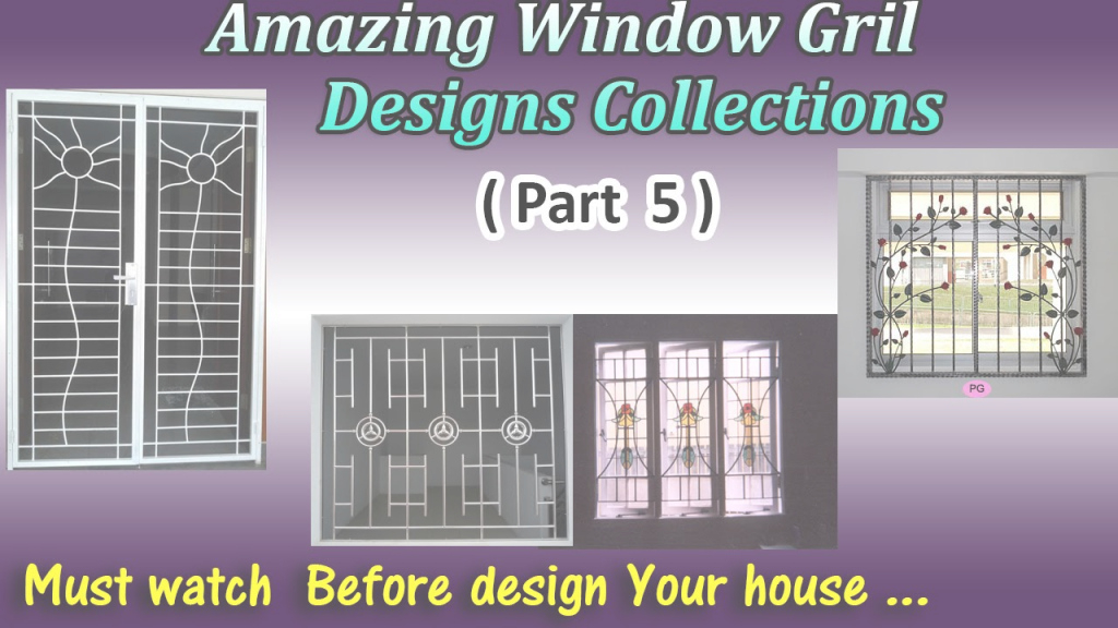Modern Latest Window Grill Designs ( Part 5 ) - Youtube within Latest Window Grill Design Photos