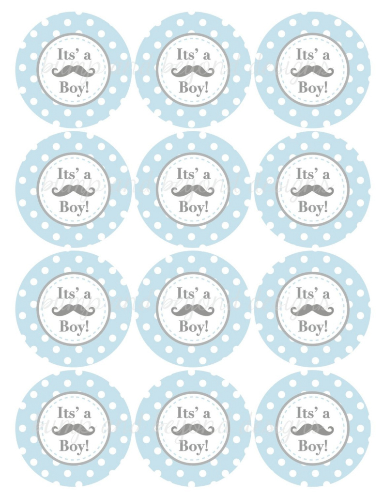 Modern Little Man Mustache Baby Shower Free Printables | Baby Shower within Little Man Baby Shower Free Printables