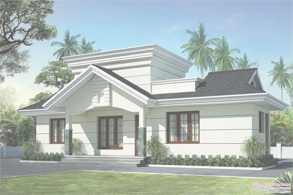 Modern Low Cost House In Kerala With Plan & Photos - 991 Sq Ft - Khp intended for Best of Kerala Style House Plans With Cost