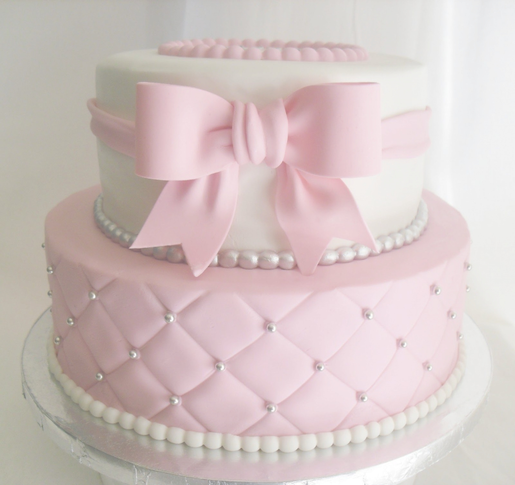 Modern Made Fresh Daily Quilted Pink And White Baby Shower Cake Girl Baby inside Baby Girl Shower Cake Ideas