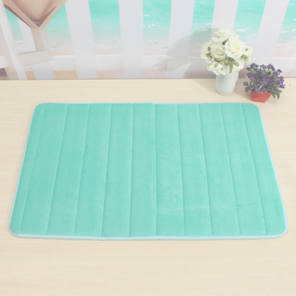 Modern Memory Foam Non Slip Bathroom Bath Mat Bedroom Shower Floor Rug throughout Bathroom Floor Mat