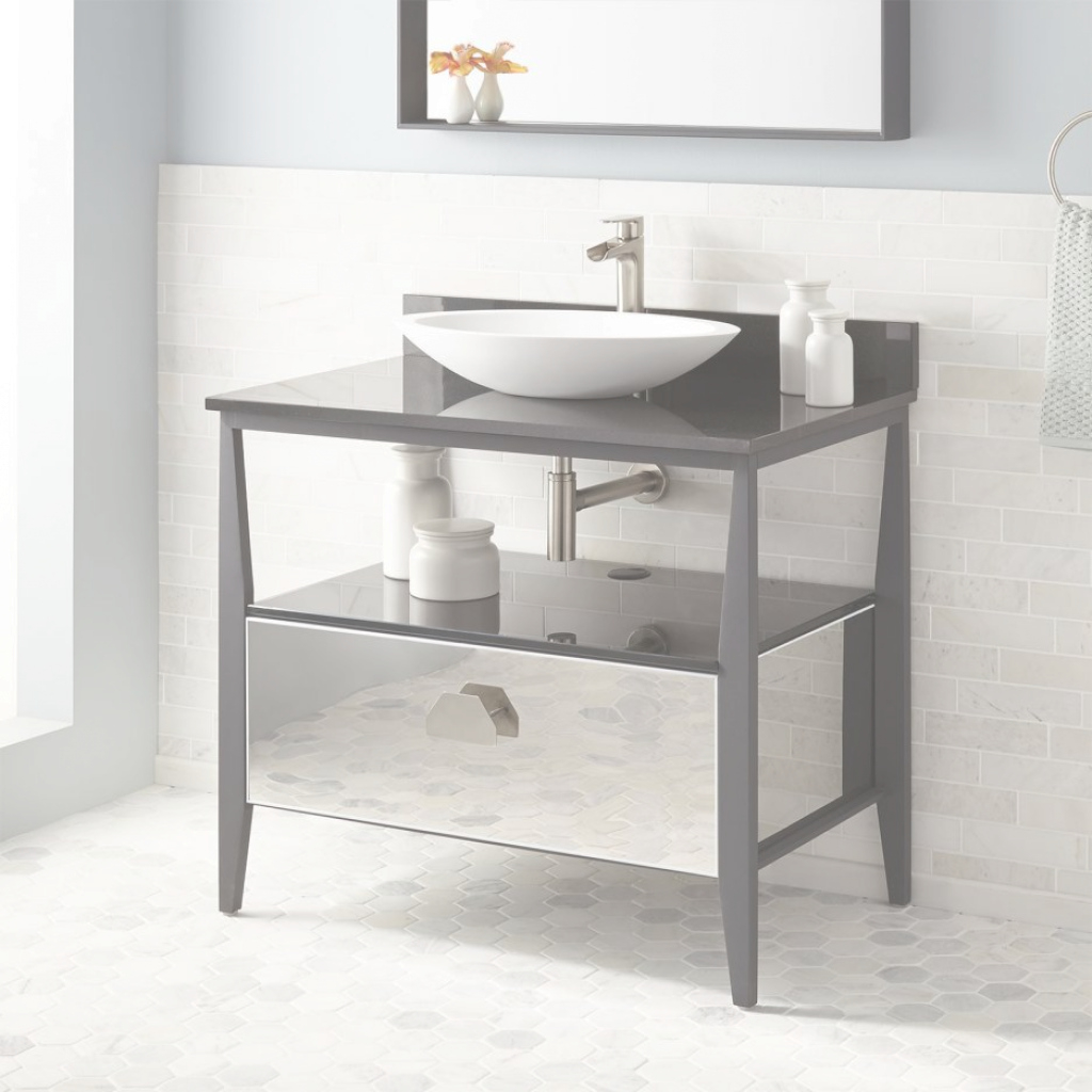 Modern Metal Bathroom Vanity Small : Top Bathroom - Special Ideas About throughout Set Metal Bathroom Vanity