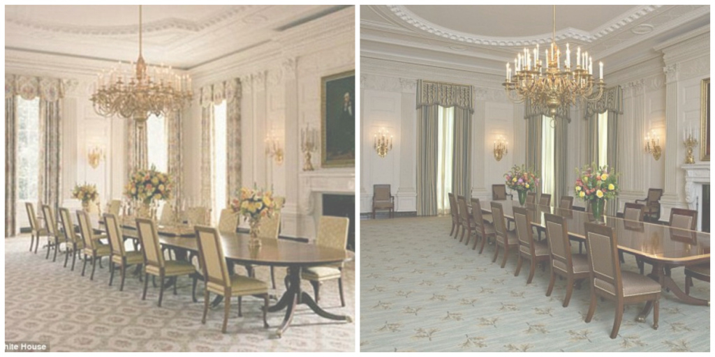 Modern Michelle Obama Touches Up To The State Dining Room - Soft Designlab throughout White House State Dining Room